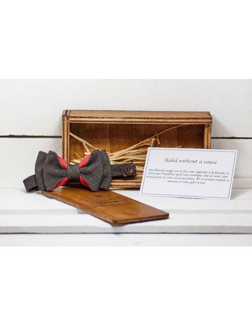 noeud-papillon-unisexe-couleurs-marron-rouge-lin-coton-bio-coffret-rangement-bois