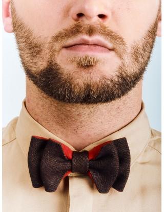 noeud-papillon-couleur-marron-rouge-forme-originale-mariage-evenement-fabrication-francaise