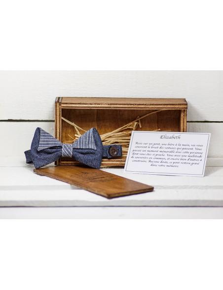 noeud-papillon-homme-jean-bleu-uni-rayé-coffret-rangement-bois