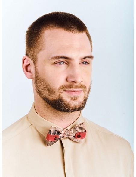 noeud-papillon-beige-rouge-coffret-rangement-bois-homme-inspiration-james-dean