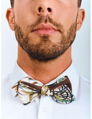 noeud-papillon-mariage-homme-motif-fleurs-vert-bleu-marron-blanc-asymetrique
