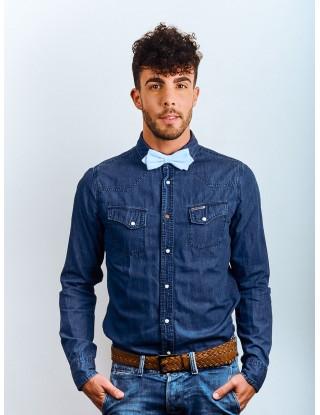 noeud-papillon-bleu-clair-homme-mariage-printemps-ete-deja-noue-chemise-jean