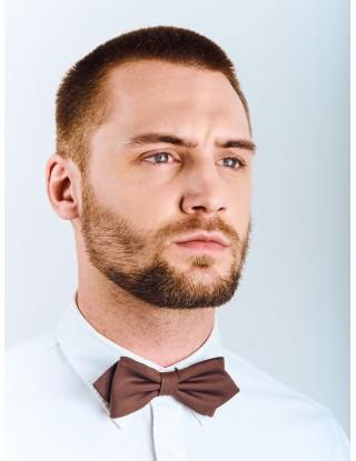 noeud-papillon-marron-brillant-doux-facile-porter-mariage-homme-forme-pointe-bio-ethique