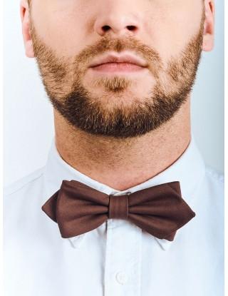 noeud-papillon-marron-coton-bio-polyester-recycle-deja-noue-fixe-homme