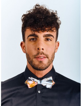 noeud-papillon-homme-fleuri-blanc-orange-forme-pointe