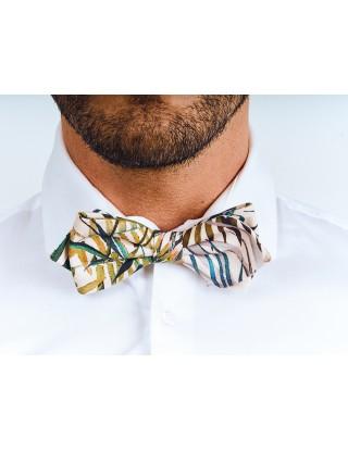 noeud-papillon-coton-motif-fleuri-vert-bleu-blanc-marron